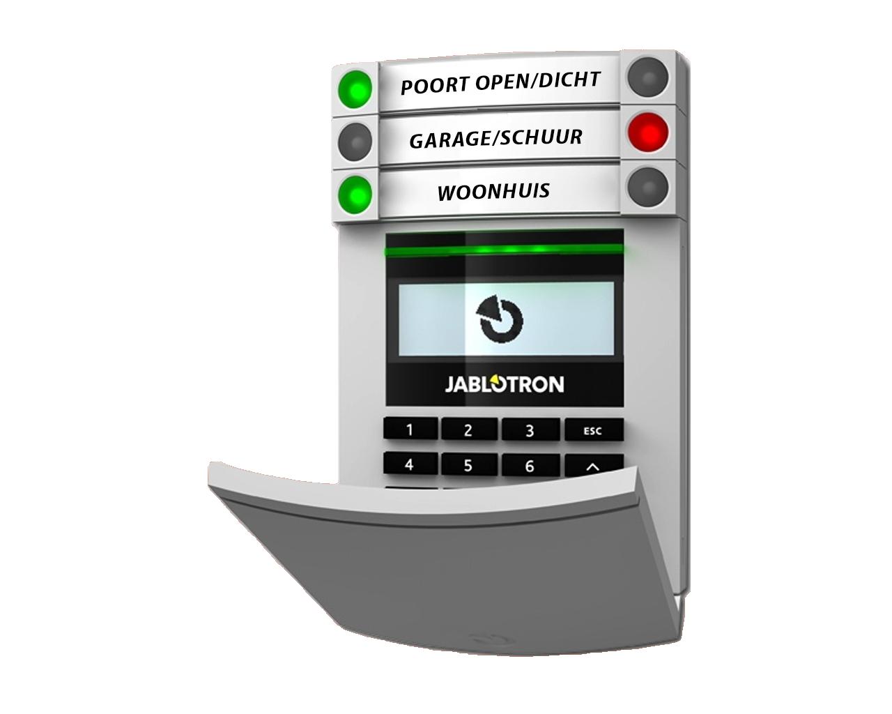 Jablotron-ja-154e JA151P-WG jABLOTRON design Bedienpaneel lcd codetoets draadloos alarmsysteem